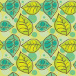 Seamless pattern with summer leafs - Stock Vector