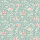 Blommig prydnad. vektor illustration av sommaren bakgrund — Stockvektor