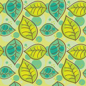 Seamless pattern with summer leafs — Stock Vector