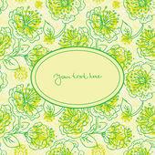 Banner floral — Vector de stock