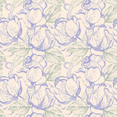 Patrón floral transparente con rosas — Vector de stock