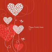 Fond d'amour avec un cœur abstrait — Vecteur