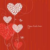 Fondo de amor con corazones abstractos — Vector de stock