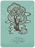 Christmas card — Vecteur