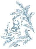 рождественские рисованной иллюстрации — Cтоковый вектор