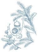 Weihnachten handgezeichnete abbildung — Stockvektor
