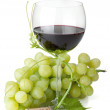 Red wine glass and grapes — Stock Photo #6776137
