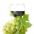 Red wine glass and grapes — Stock Photo #6874350