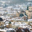 Winter view of Lviv, Ukraine central part — Stock Photo