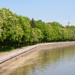 MINSK, BELARUS - MAY 21: Svisloch river on May 21, 2011 in Minsk — Stock Photo #7584005