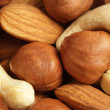 Close up of assorted nuts — Stock Photo