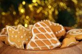圣诞姜饼 — 图库照片
