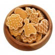 Christmas gingerbread on white background — Stock Photo