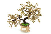 Handmade article: money tree from glass beads and wire. — Stock Photo