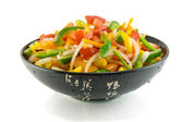 Vegetable salad of paprika, tomato and onion — Stock Photo