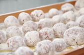 Meatball sprinkled with flour — Stock Photo