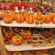 Stock Photo: Shop with helloween pumpkins and mushrooms