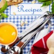 The book of recipes — Stock Photo #6845214