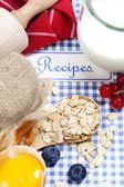 Het boek van recepten — Stockfoto