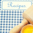 The book of recipes — Stock Photo