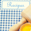 Stock Photo: The book of recipes