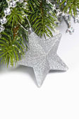 Christmas composition with star — Stock Photo