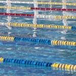 Swimming pool lanes — Stock Photo