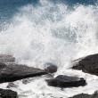 Breaking ocean waves - Stock Photo