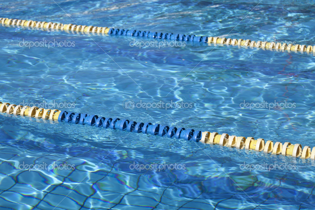 Swimming pool lanes in competition pool — Stock Photo #7498203