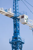 Long industrial crane for big loads — Foto Stock