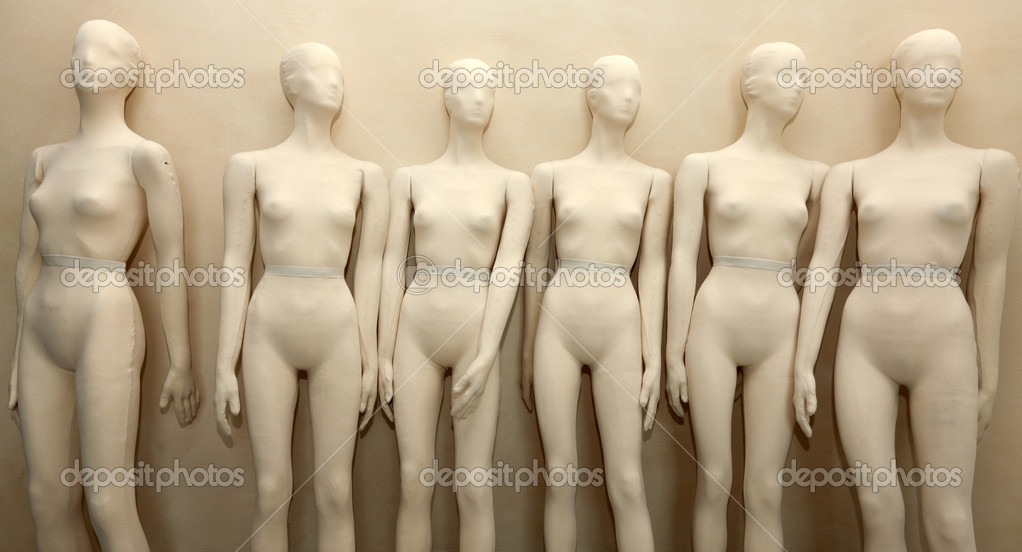 Manikins without clothes in store  — Stock Photo #7505194