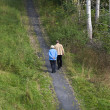 Elderly couple walking — Stock Photo #7562601