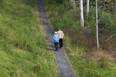 Elderly couple walking — Stock Photo