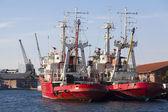 O lado comercial do porto da cidade de Salónica — Fotografia Stock