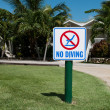 No diving sign — Foto Stock