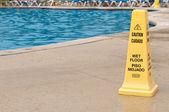 Wet floor sign — Stock Photo