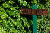 Watersports sign — Stock Photo
