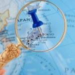 Tokyo map tack — Stock Photo