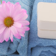 Towels and soap — Stock Photo #6752020