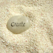 Create stone — Stock Photo