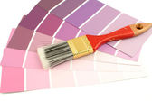Paint swatches — Stock Photo