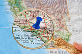 Los Angeles map — Stock Photo