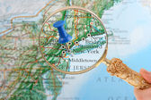 New York map tack — Stock Photo