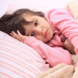 Little girl bedtime - Foto Stock