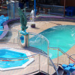 Royalty-Free Stock Photo: Pool and hot tub on cruise ship