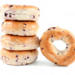 Blueberry bagels — Stock Photo