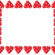 Valentine heart frame or border — Stock Photo
