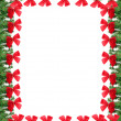 Christmas greeting card border — Stock Photo