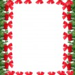 Stock Photo: Christmas greeting card border