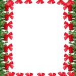 Christmas greeting card border — Stock Photo